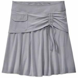 Athleta Wherever Skort UPF 50 Flouncy Skirt Grey